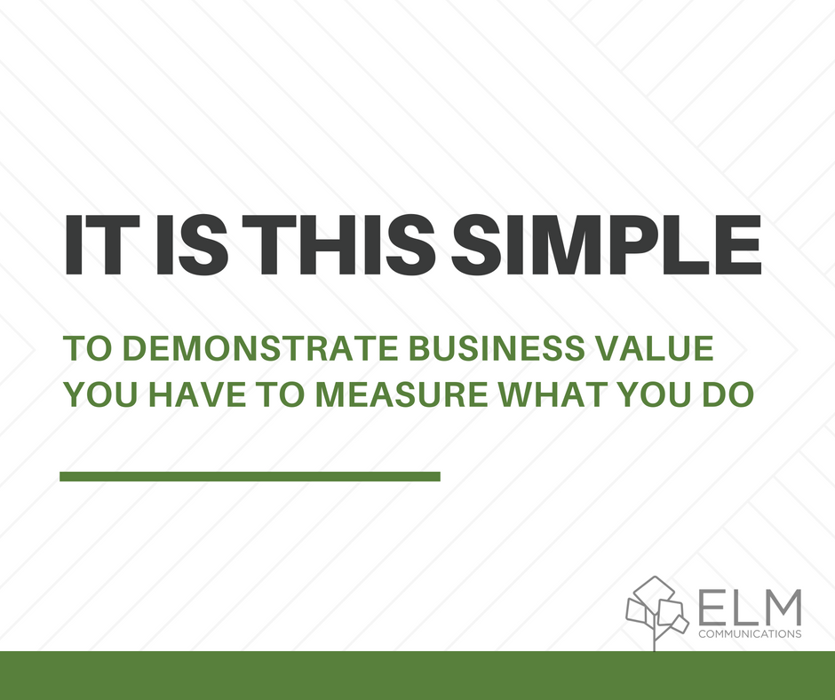It is this simple to demonstrate business value you have to measure what you do