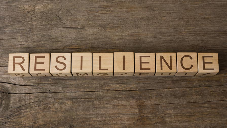 Resilience written in wooden blocks